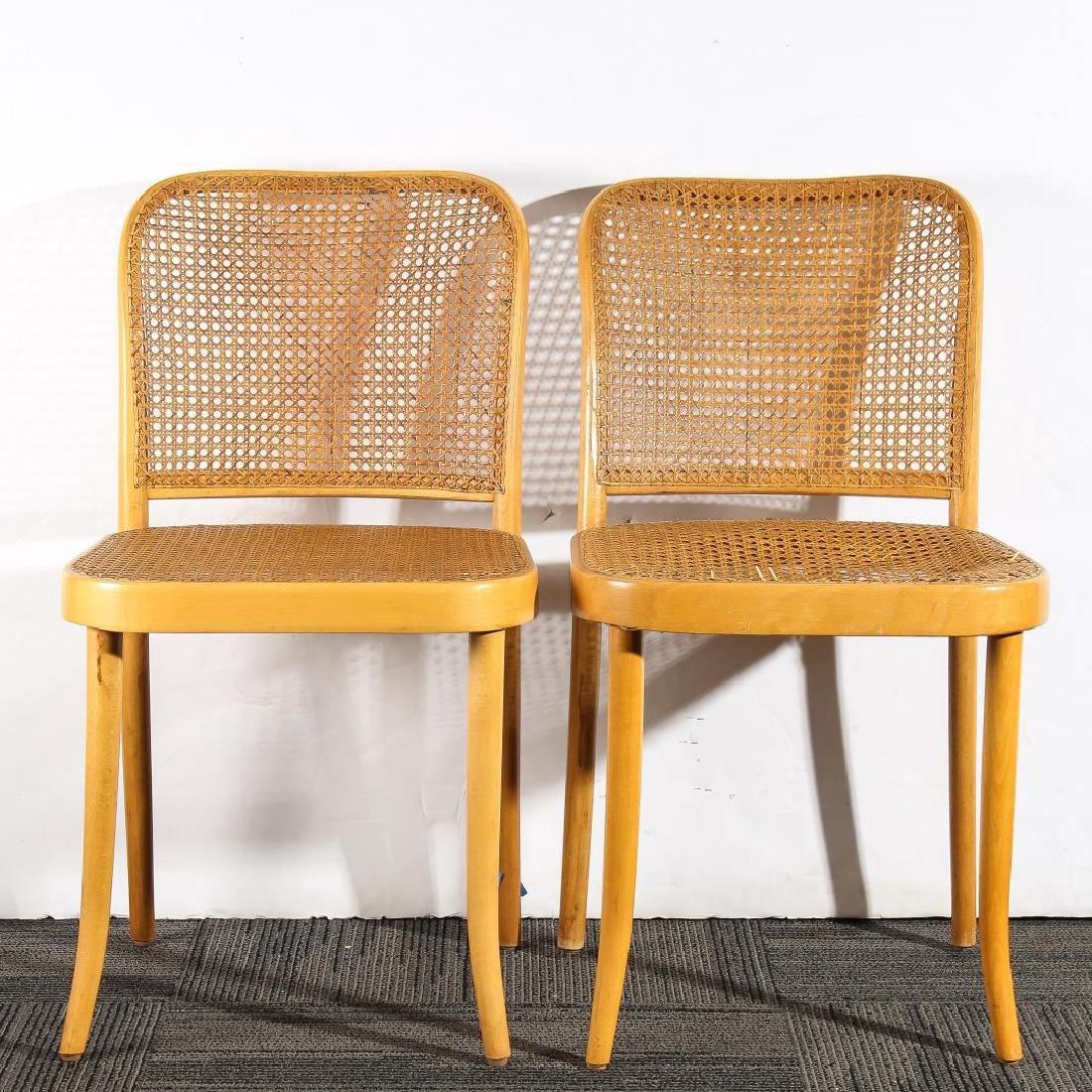 Original Stendig Thonet Bentwood Cane Chairs, Pair