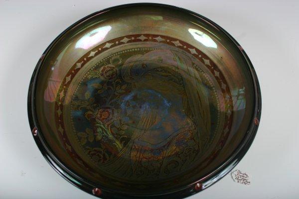 2: R.Joyce Renaissance Revival Glass Serving Bowl 1920