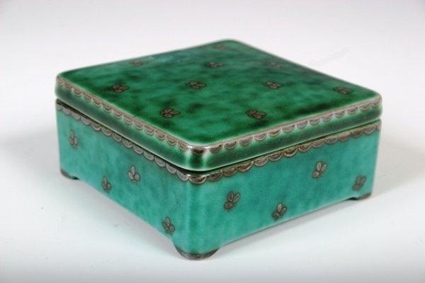 18: Gustavsberg Silver & Ceramic Box c1925