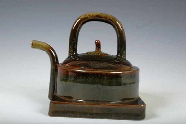 23: Stephen Laden Glazed Porcelain Hand Thrown Teapot