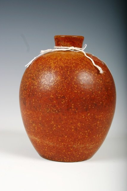 24: Saxbo Mott Danish Burnt Orange Vase
