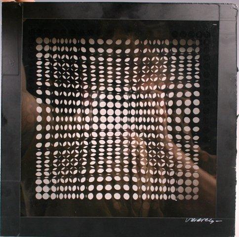 149: Victor Vasarely Black Box Op Art Sculpture c1950s