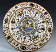 176: Cantagalli Italian Majolica Ceramic Lustre Charger