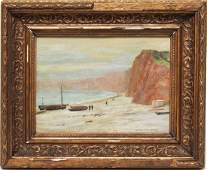 Signed Thompson Marine Landscape Oil on Board