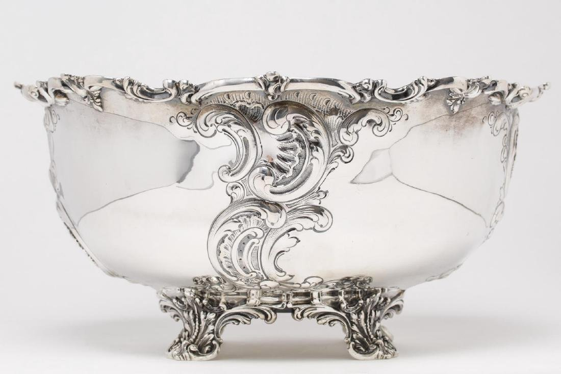 Starr Sterling Silver Punch Bowl, Rococo-Manner