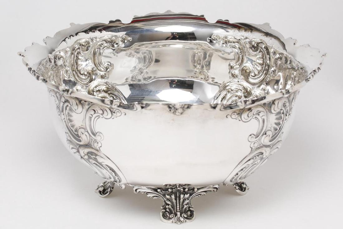 Starr Sterling Silver Punch Bowl, Rococo-Manner - 2