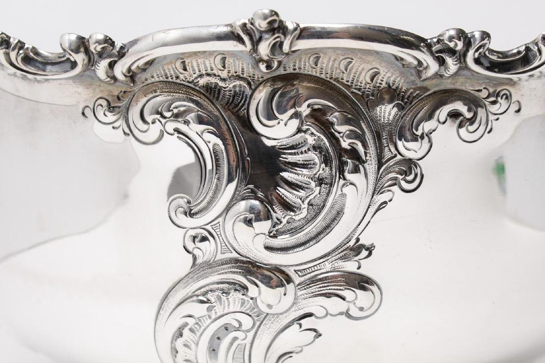 Starr Sterling Silver Punch Bowl, Rococo-Manner - 5