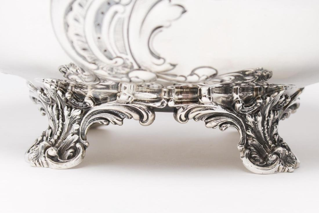 Starr Sterling Silver Punch Bowl, Rococo-Manner - 6