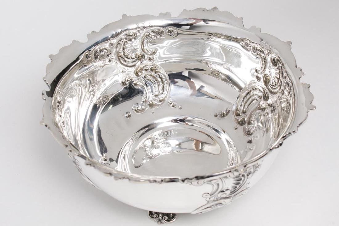 Starr Sterling Silver Punch Bowl, Rococo-Manner - 7