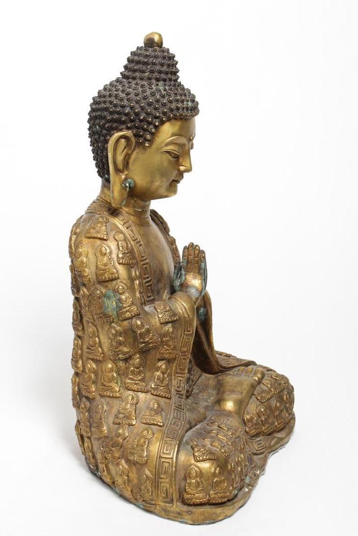 Tibetan Gilt Bronze Buddha Figure, in Anjali Mudra - 2
