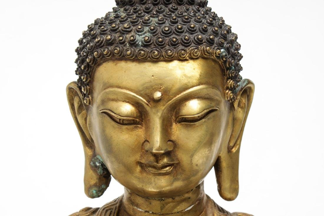 Tibetan Gilt Bronze Buddha Figure, in Anjali Mudra - 5