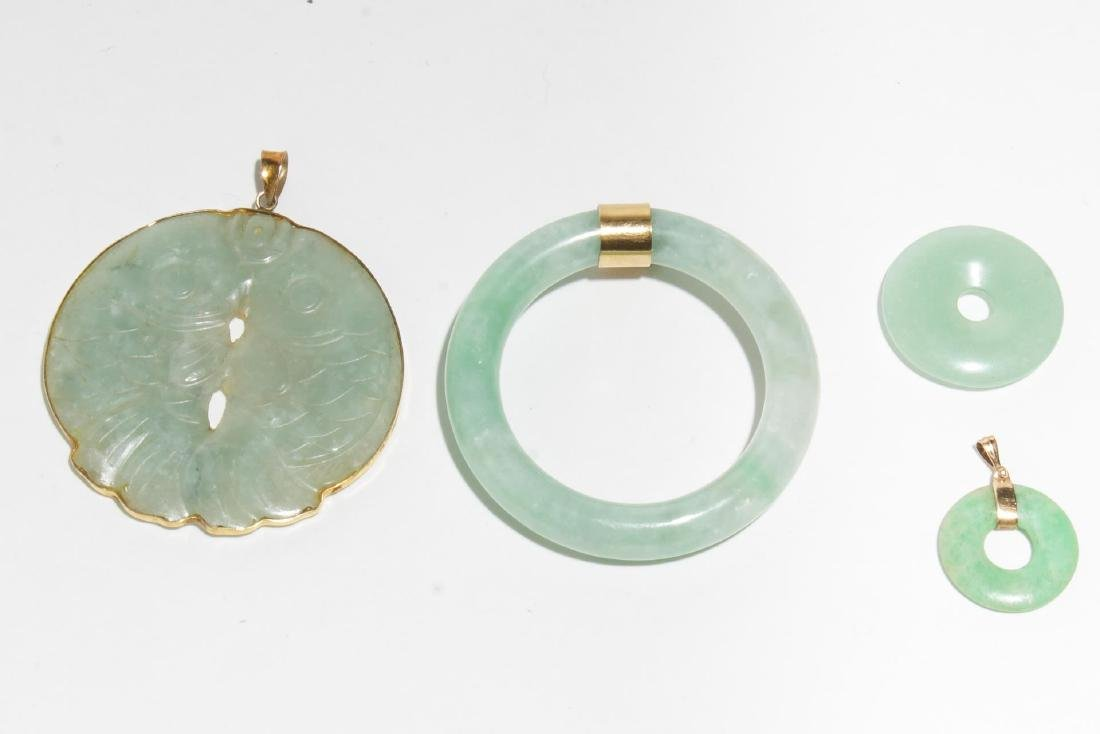 Chinese Carved Jade Jewelry Articles, inc. Gold, 4