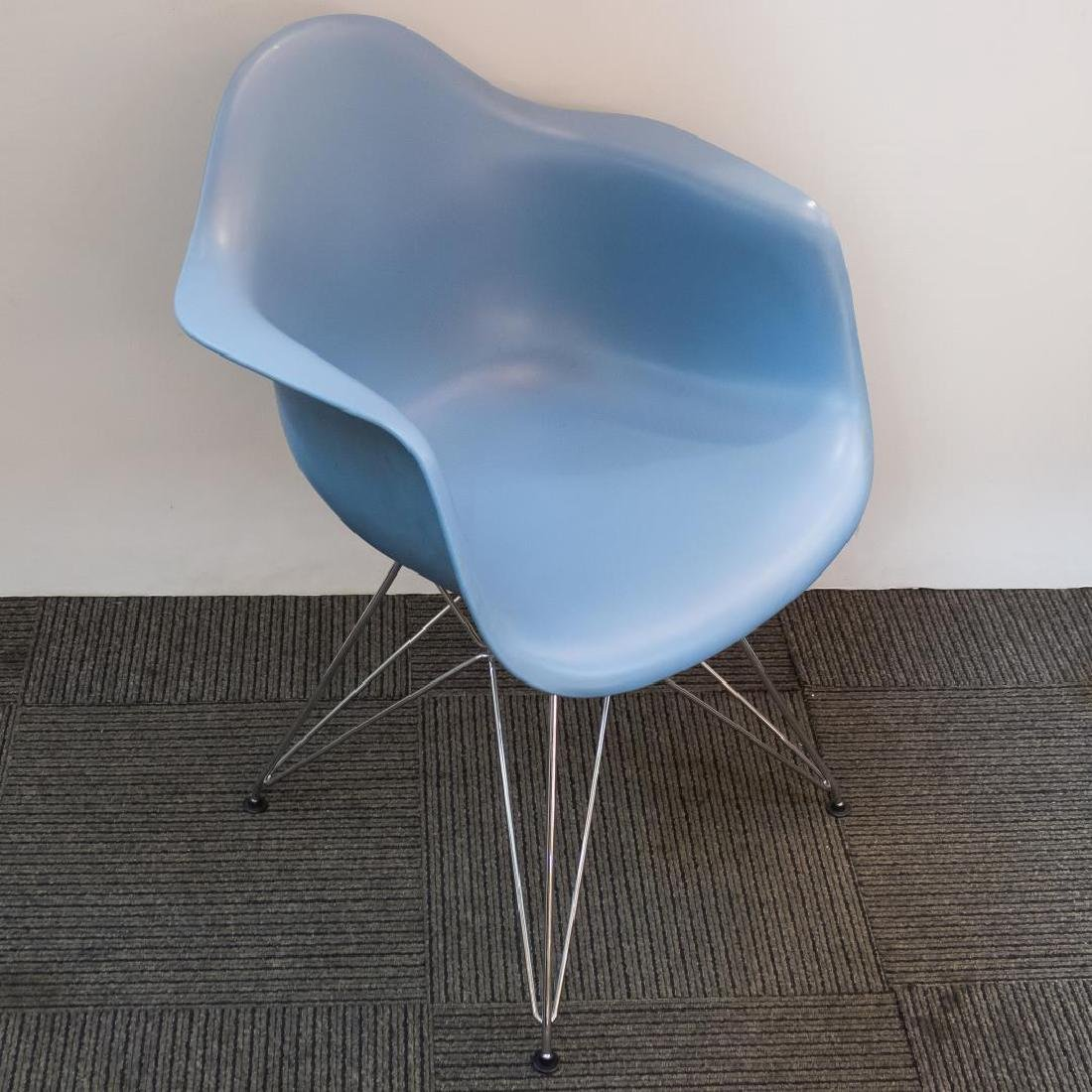 Charles & Ray Eames DAR Armchair for Vitra, Blue