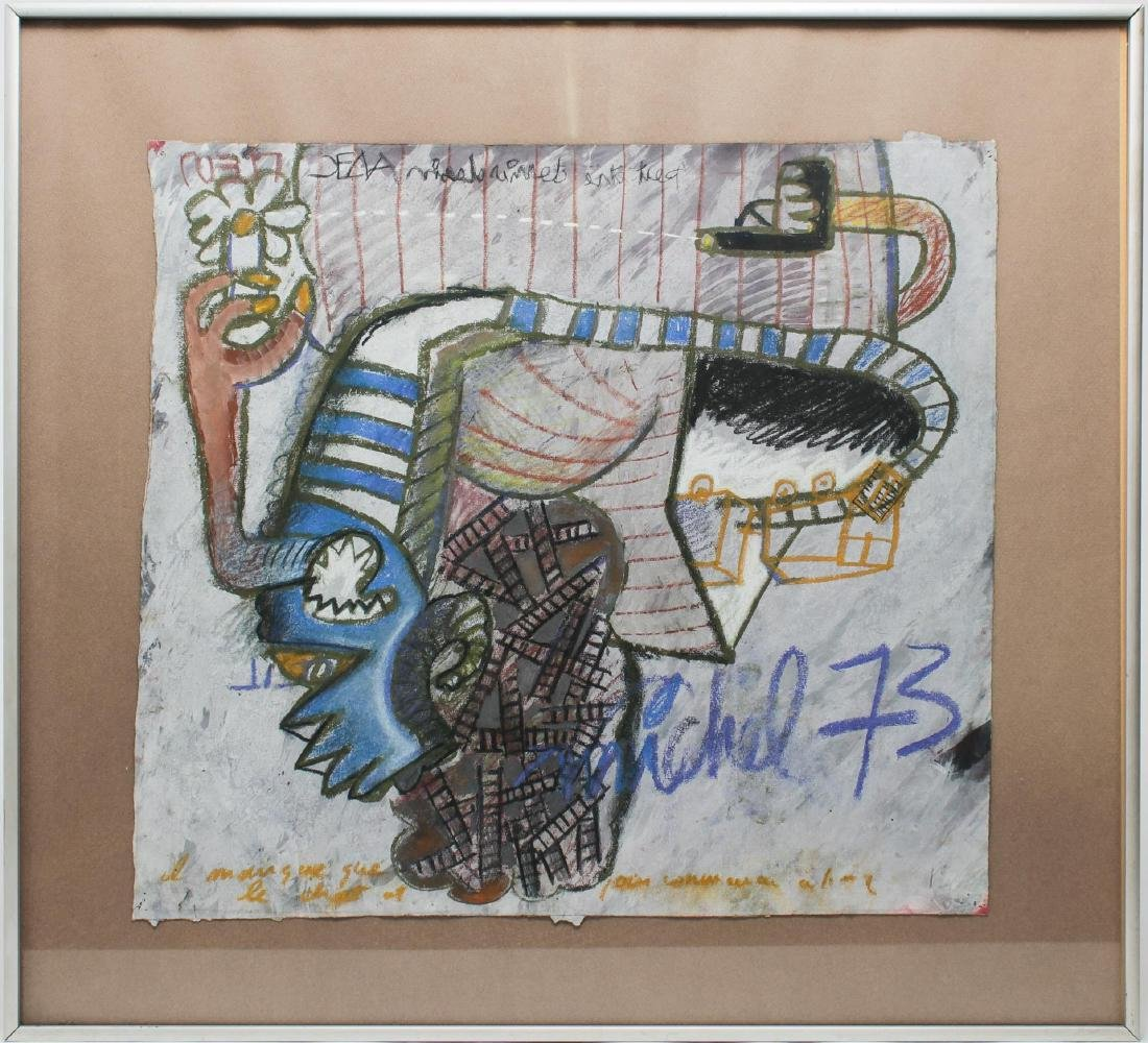 Signed Michel- Abstract Mixed Media