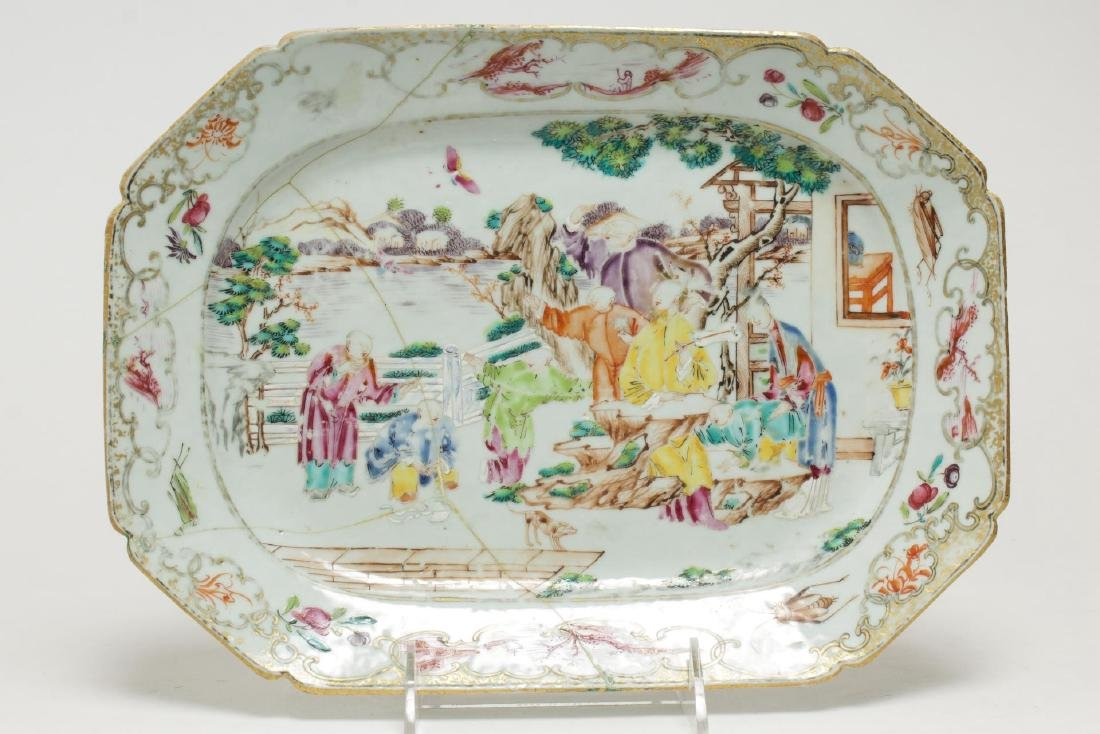 Chinese Export Porcelain Serving Trays, Antique - 3