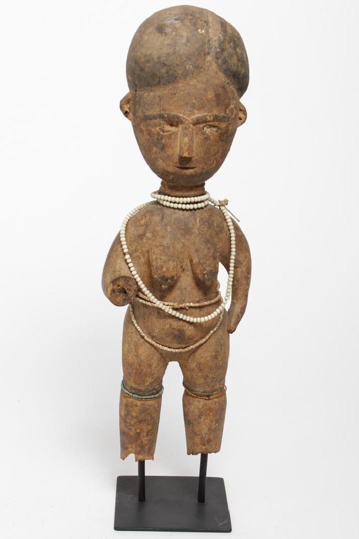 African Ashanti Ghana Carved Wood Fertility Doll