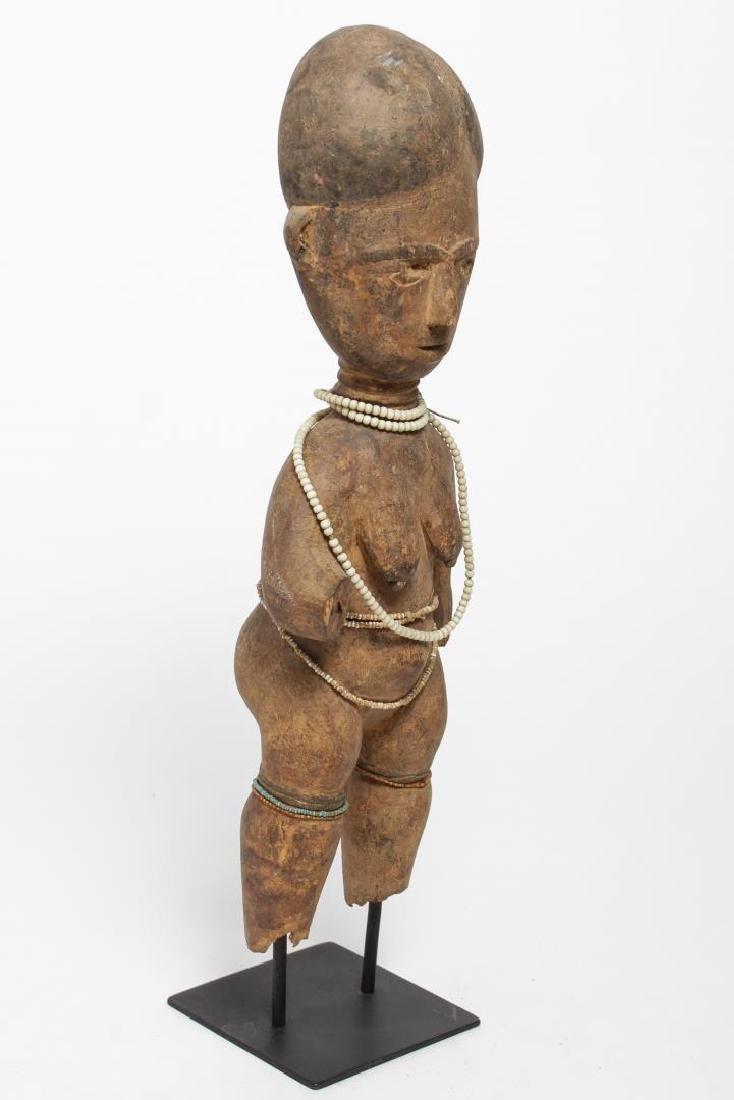 African Ashanti Ghana Carved Wood Fertility Doll - 2