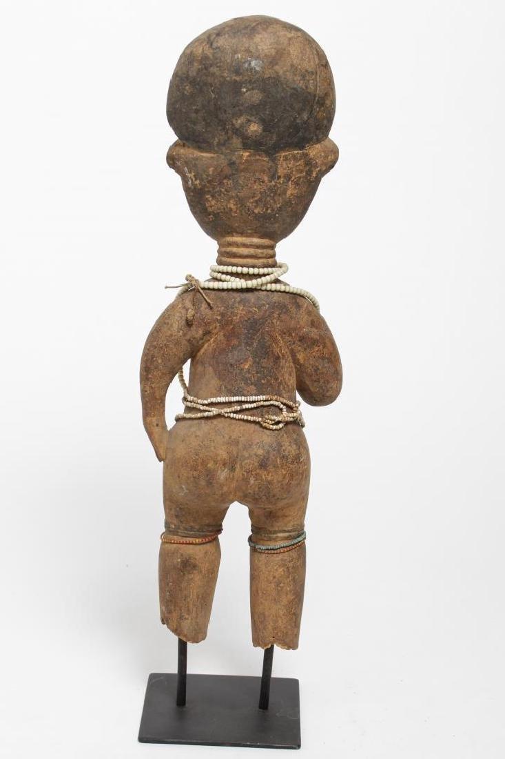 African Ashanti Ghana Carved Wood Fertility Doll - 3