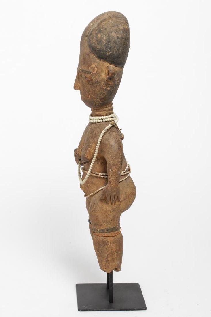 African Ashanti Ghana Carved Wood Fertility Doll - 4