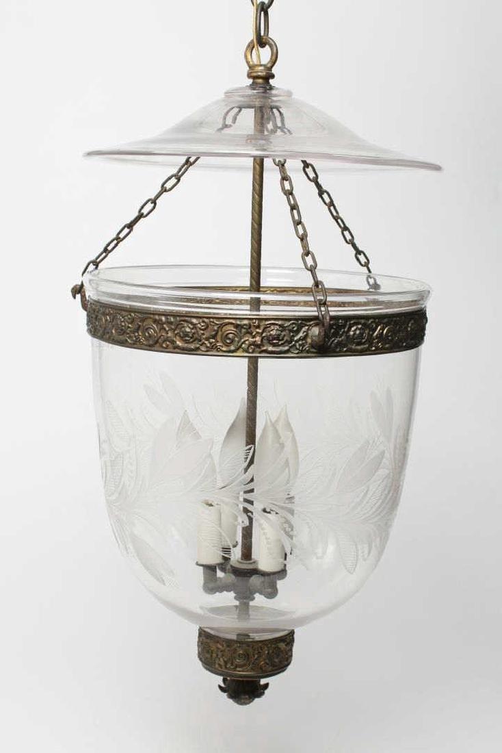 Bell Jar Lantern, Glass & Ormolu-Mounted, 4-Light