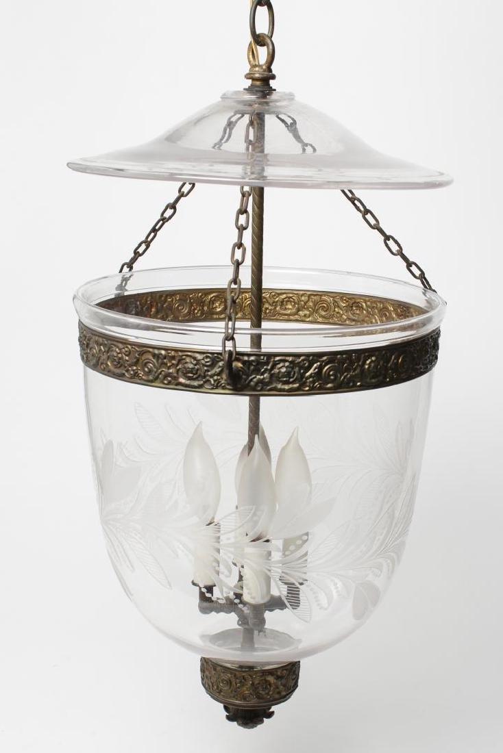 Bell Jar Lantern, Glass & Ormolu-Mounted, 4-Light - 2