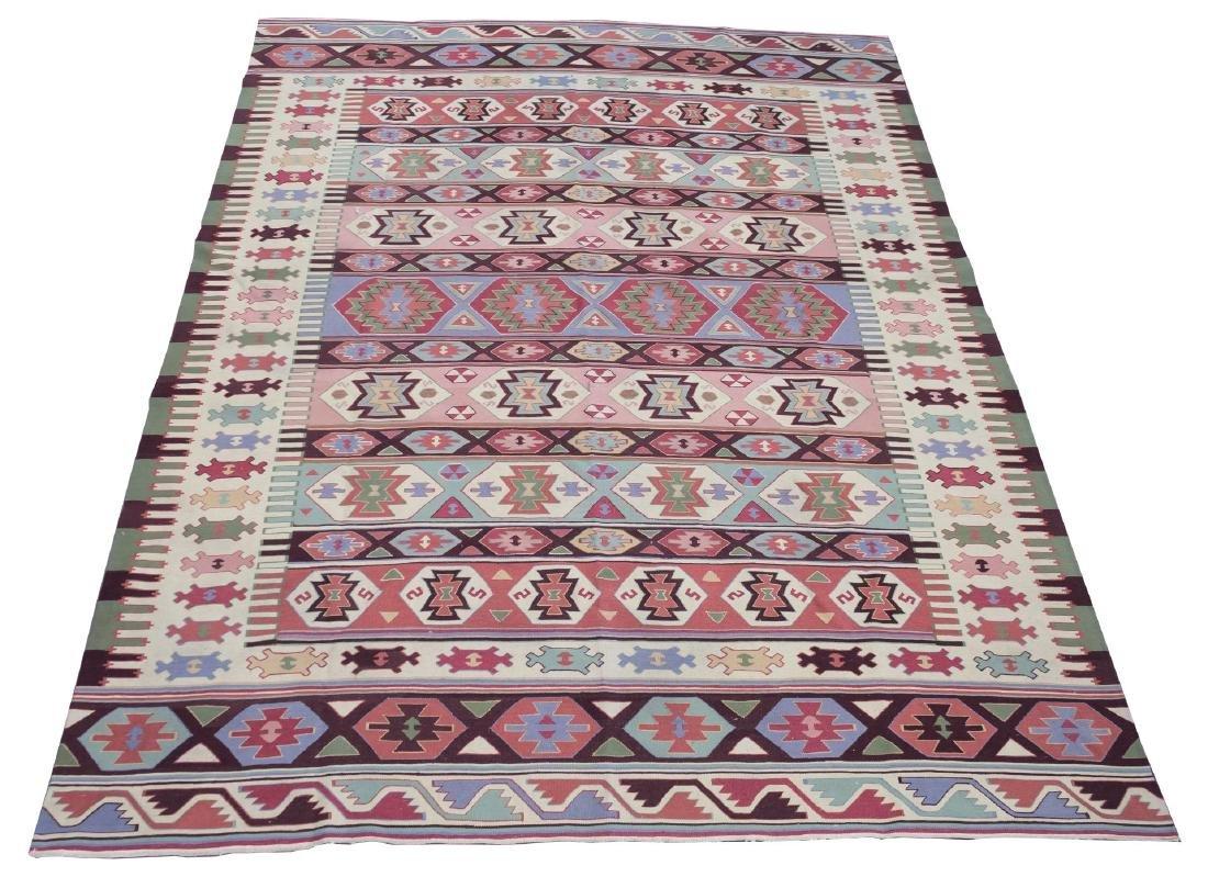 "Kilm Flat Weave Carpet, 8' 7"" X 11' 5"""