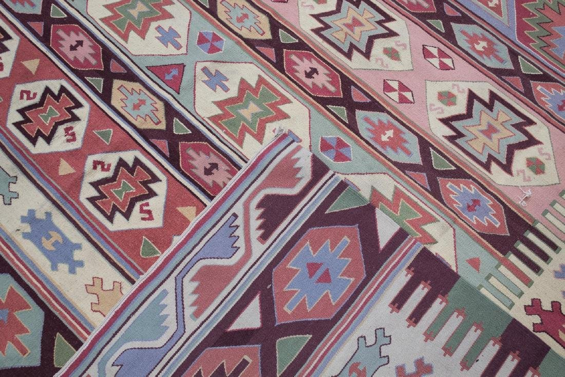 "Kilm Flat Weave Carpet, 8' 7"" X 11' 5"" - 6"