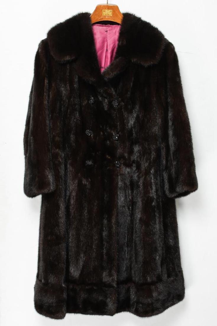 Mink Coat, Vintage Fur, in Natural Ranch