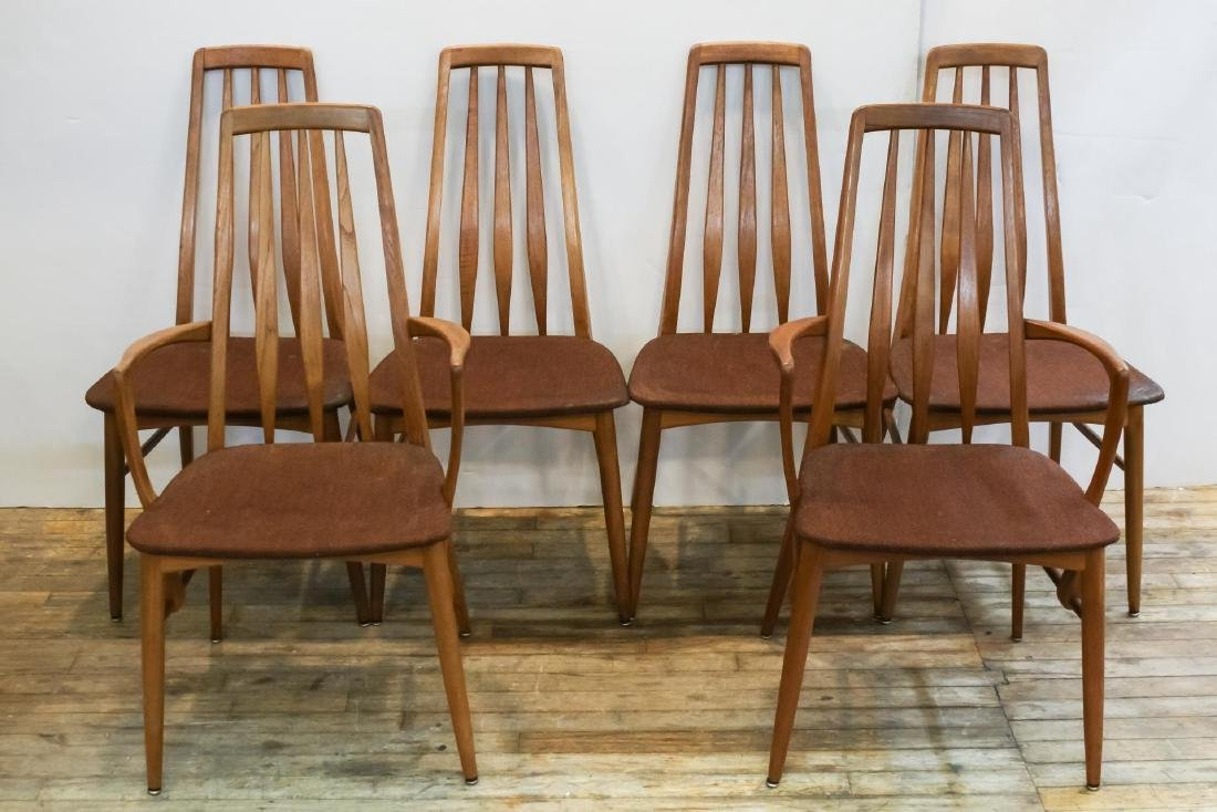 Niels Koefeds Hornslet Danish Dining Chairs, 6