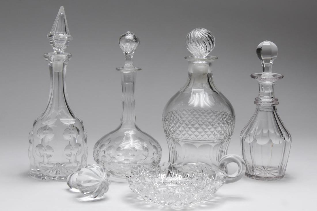Lead Crystal & Cut Glass Decanters & Dishes, 6