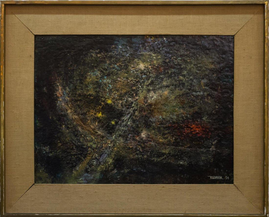 Leonardo Nierman (Mexican, b. 1932)- Oil on Board