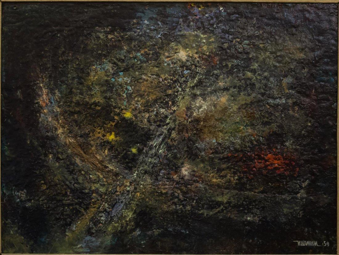 Leonardo Nierman (Mexican, b. 1932)- Oil on Board - 2