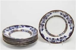 Mason Ironstone Porcelain Soup Bowls, 9 Pcs