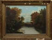 American School Landscape Oil on Canvas