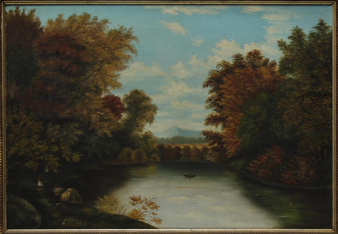 American School Landscape Oil on Canvas - 2
