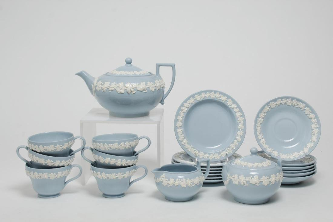 Wedgwood Blue-Glazed Porcelain Tea Service