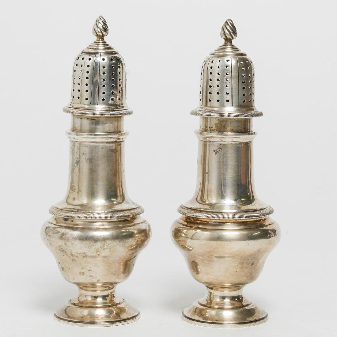 Silver Sugar Casters or Shakers, Vintage 1920s - 2