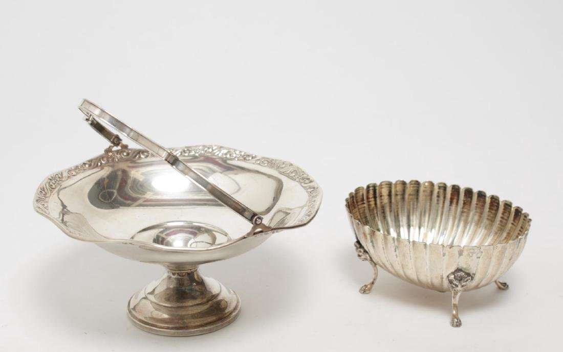 Neoclassical Silver Bowl & Tazza, incl. Weighted