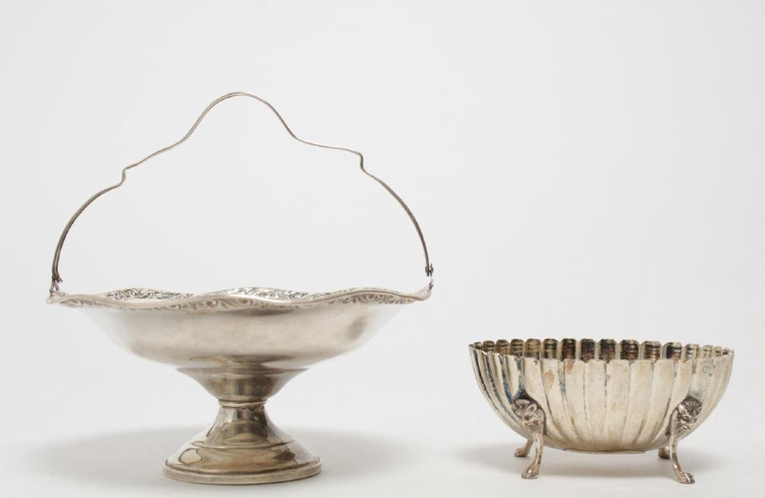 Neoclassical Silver Bowl & Tazza, incl. Weighted - 2