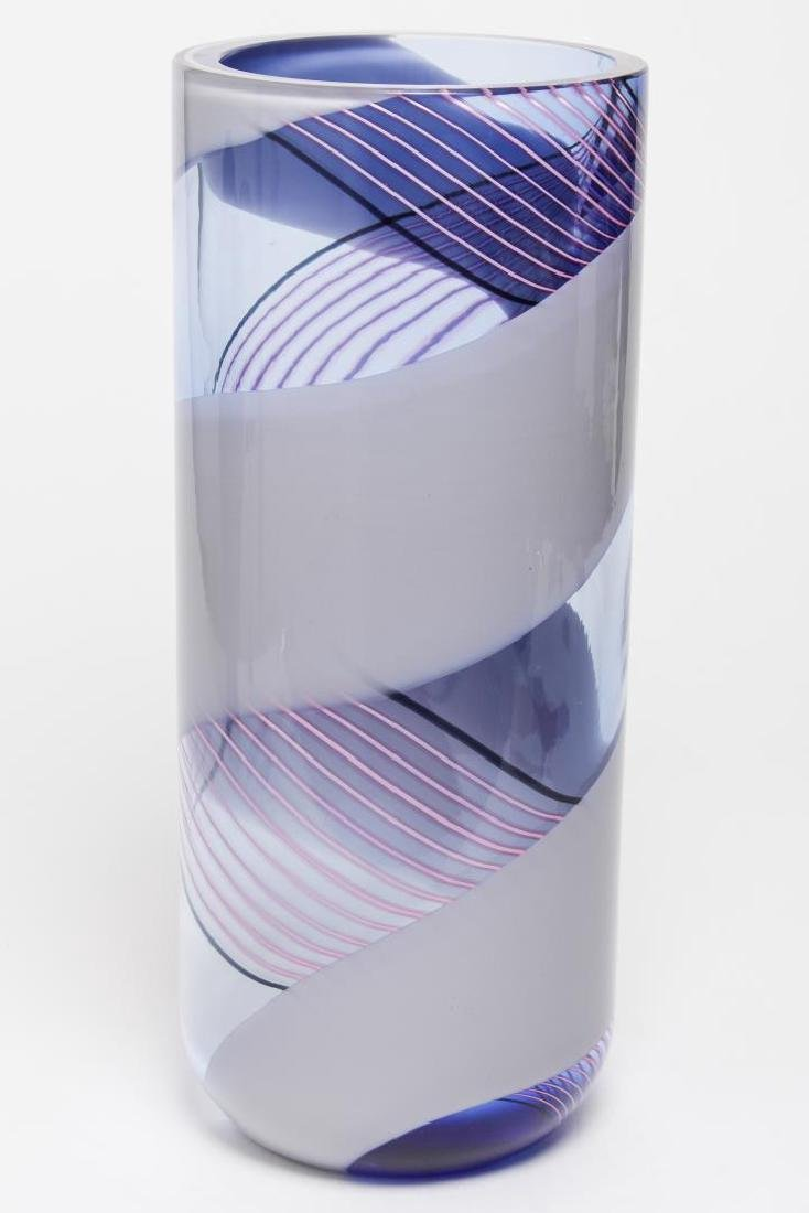 Livio Seguso Murano Modernist Striped Glass Vase