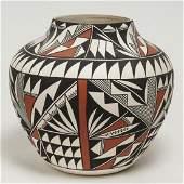 Acoma Pueblo Pottery Jar, American Indian, Signed