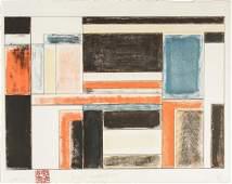 David Novros American b 1941 Lithograph