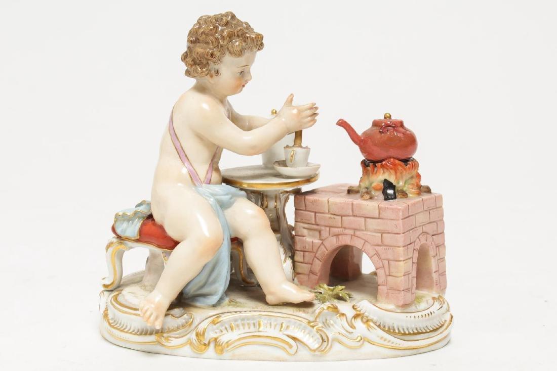 Meissen Porcelain Cherub Chocolatier Figurine