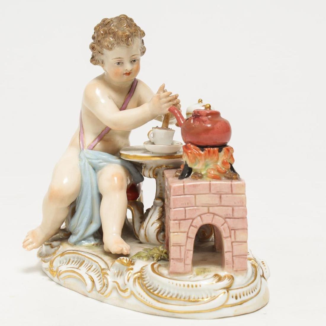 Meissen Porcelain Cherub Chocolatier Figurine - 2