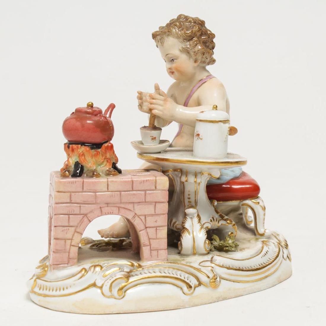 Meissen Porcelain Cherub Chocolatier Figurine - 3