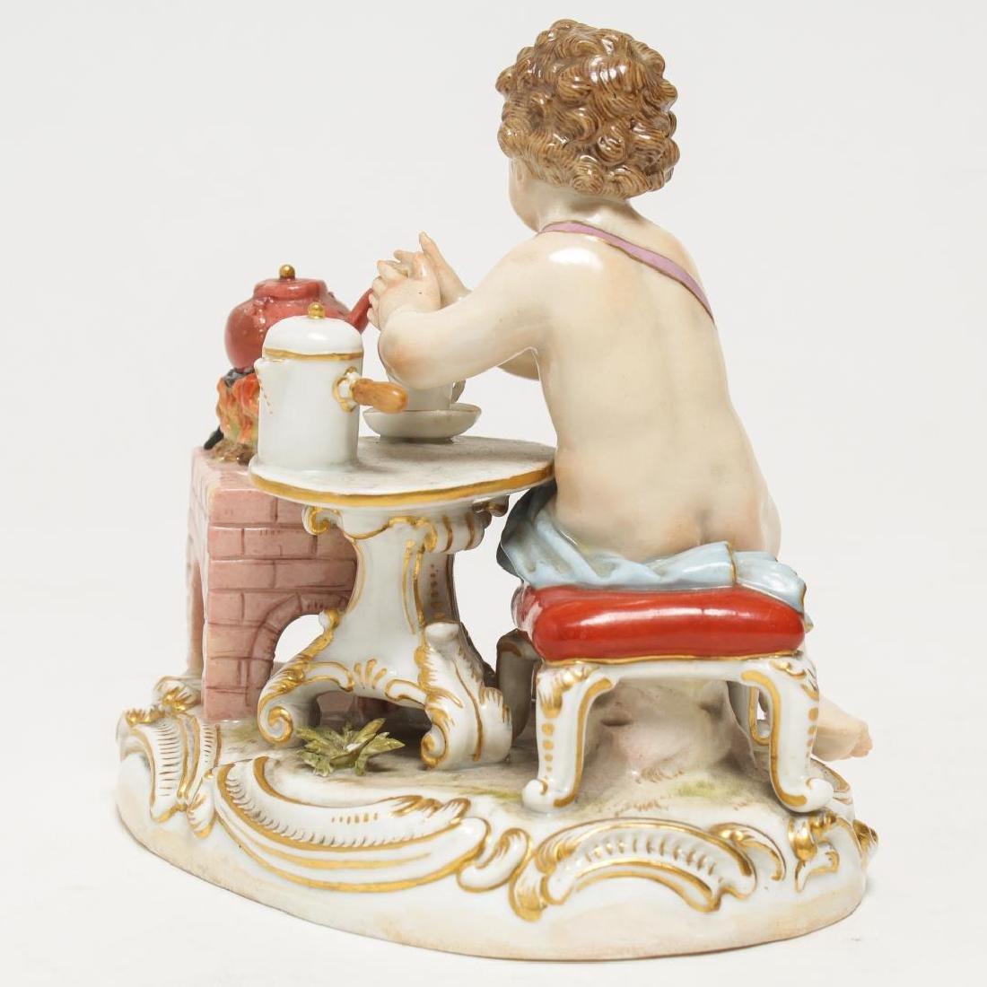 Meissen Porcelain Cherub Chocolatier Figurine - 4