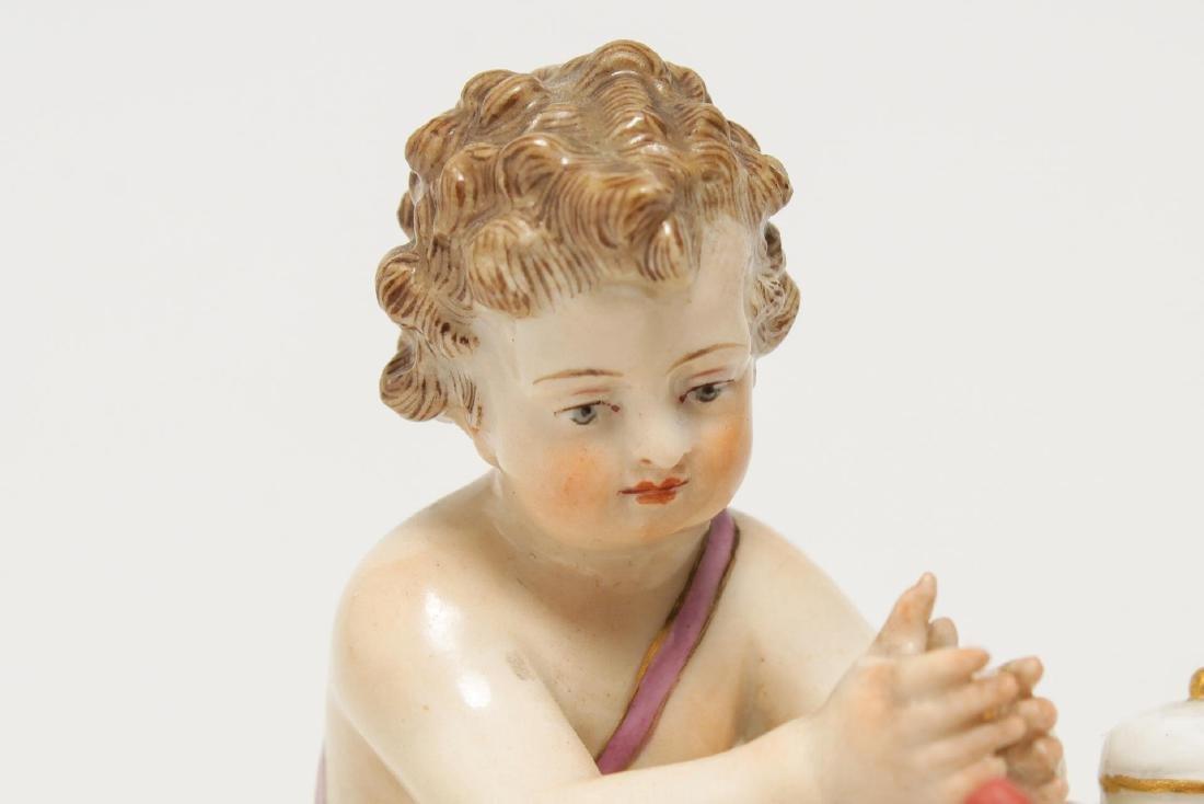Meissen Porcelain Cherub Chocolatier Figurine - 5