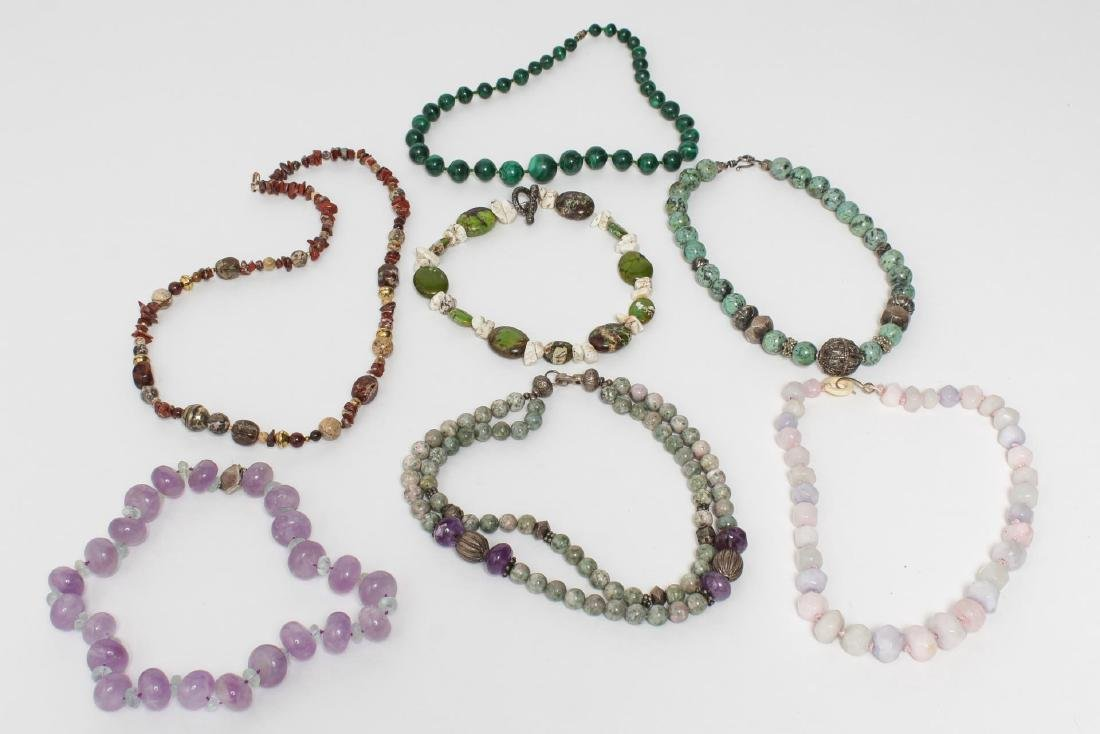Semiprecious Stone & Other Woman's Necklaces, 7