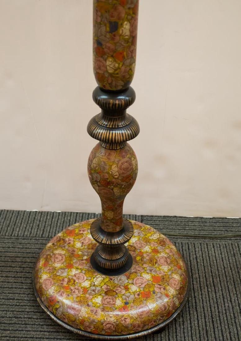 Art Nouveau Painted Wood Standing Lamp, Japonisme - 2