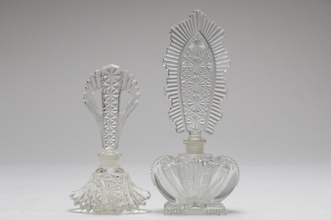 Cut Crystal & Glass Perfume Flasks, 8 inc. Bohemia - 2